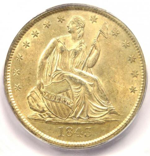 1843-O Seated Liberty Half Dollar 50C Coin - Certified ICG MS62 - $2,190 Value!