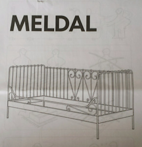 Lit simple en métal / Twin bed frame - IKEA MELDAL white