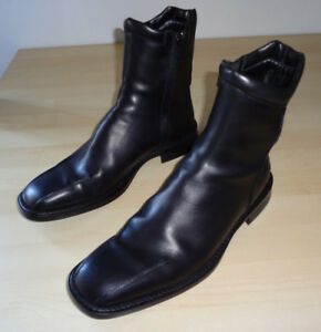 *** Costume National Leather booties 9.5 *MINT condition***