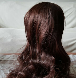 Beautiful Long Dark Brown Wavy and Curly Hair Wigs (2)