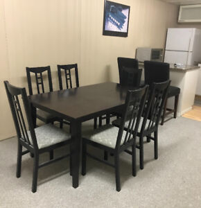 Dining Table 6 Cushioned IKEA Chairs
