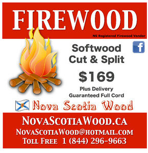Softwood Firewood $169 plus delivery   www.NovaScotiaWood.ca