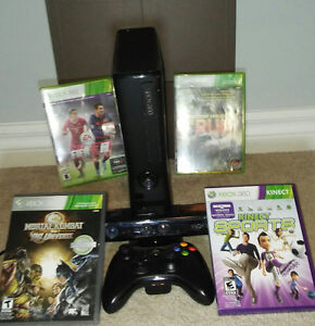 Xbox 360+Kinect+6 games