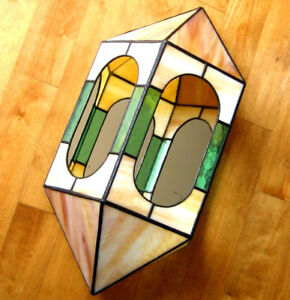 Vintage Lampe Vitrail Stained Glass Lamp