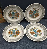 RETRO KATHIE WINKLE LOT OF 4 BREAD SIDE PLATES MISSISSAUGA