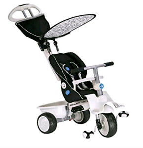 Infant to Toddler -Black and White 4n1 smart trike