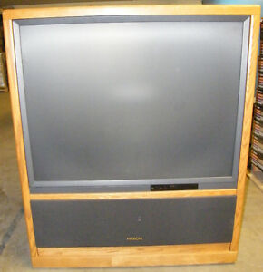 2 Large floor model TVs Hitachi Toshiba London Ontario image 1