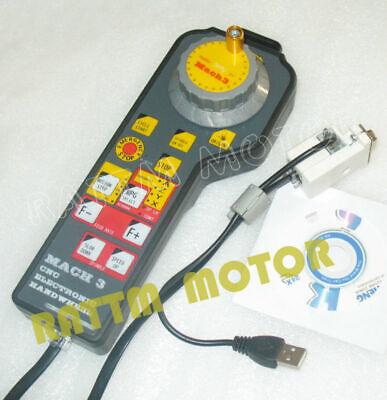 Usb Mach3 Electronic Handwheel Manual Controller Cnc Engraving Machine Interface