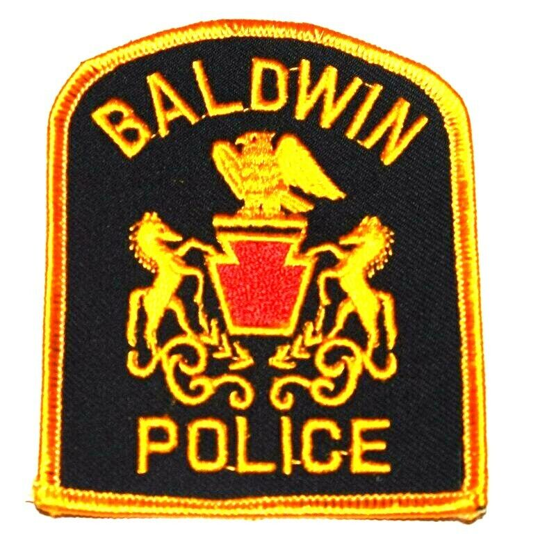 BALDWIN PENNSYLVANIA PA Sheriff Police Patch KEYSTONE STATE SEAL HORSES EAGLE ~