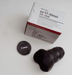 Canon Zoom Lens EF 17- 40mm f/4 L