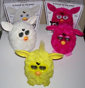 Furby 2012 Edition Yellow and White Pair