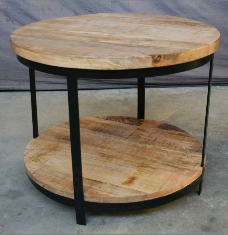 Round Coffee Table Made From Mango Wood And Iron 56cm In Blackburn Lancashire Gumtree