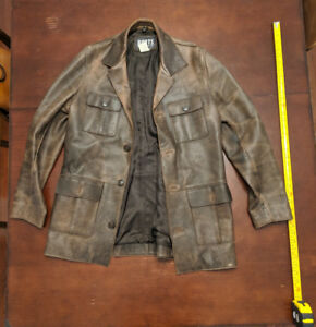 Roots Leather 3/4 Length Jacket