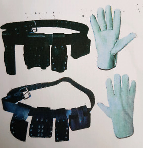 working Gloves and  Leather Tool Belt