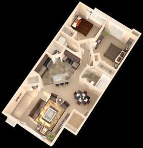 Spacious, open floor plan 2-bedroom