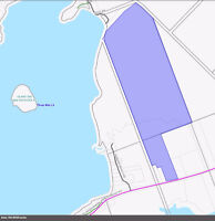 105 acres with 150' frontage on Three Mile Lake