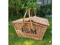 Fortnum and mason wicker hamper basket £30