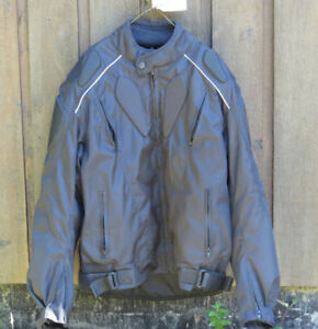 Mens Armored Textile Motorcycle Jacket