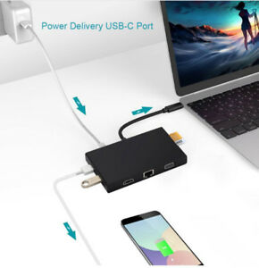 Adaptateur USB Type C Hub 9 IN 1 for macbook, chromebook and