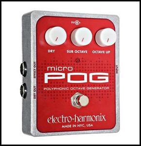 Electro Harmonix Micro POG Polyphonic Octave Generator Guitar Pedal Aust adapter