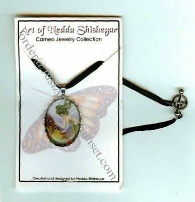 Nedda Cameo Necklace Mermaid Darya Green Ocean Pendant Fantasy Art Cosplay New