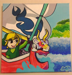 Cheap commissioned cartoon paintings!