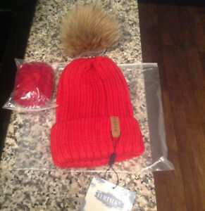 Furtalk winter hats for sale real fur pompom