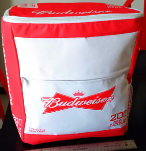 New Budweiser Insulated Backpack BEER Bag Cooler Holds 20 CANS
