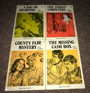 1980's Kids Book Lot of 4 High Noon Books Road Ace Series