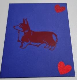 Handmade cards .Corgi.