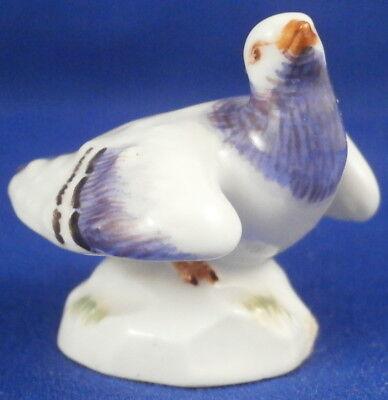 Meissen Porcelain Miniature Pigeon Bird Figure Figurine Porzellan Taube Figur #5