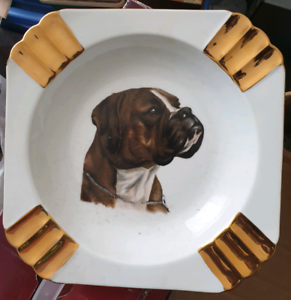 Boxer dog ornaments and plate Rokeby Clarence Area Preview