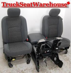 Dodge Ram 2015 Truck Grey Cloth Power Seats and Center Console