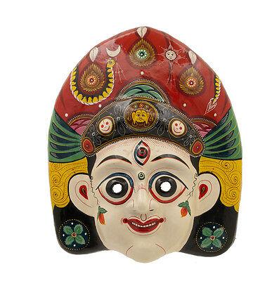 Mask Nepalese Maheshwori Indra Jatra Festival Nepal Paper Mache Mask 7196