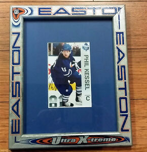 Signed Phil Kessel in hockey stick picture frame