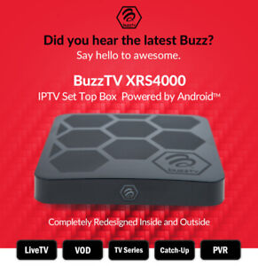 BuzzTV XRS4000 Android 9 IPTV OTT set-top HD 4K TV Media Player