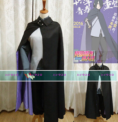 Boruto: the Movie Uchiha Sasuke Konoha Cosplay Costume Uniform Outfit](Sasuke Costumes)