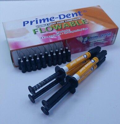 Vlc Light Cure Composite Flowable 4 Syringes Kit C1 Exp122020