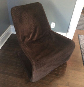 Retro S Chair Style Corduroy Covered IKEA Locksta Lounge Chair