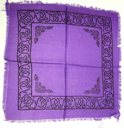 "18"" Purple Plain Altar Cloth Wiccan Pagan Altar Supply #88"