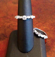 18K WHITE GOLD DIAMOND ENGAGEMENT RING*CERTIFIED APPRAISED $6800