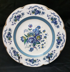 Vintage Ascot Woods and Sons Floral Service Plate.