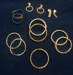 Rhinestone Jewelry Lot Bracelets Earrings New