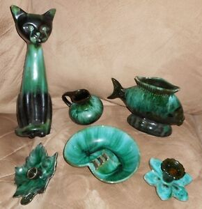 BMP - Blue Mountain Pottery collection - tall cat, etc