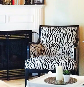 Designer Zebra Chair Oversized