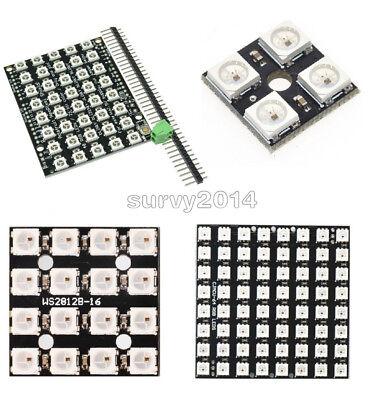 4164064bit Ws2812 Matrix Led 5050 Rgb Full-color Driver Board For Arduino New