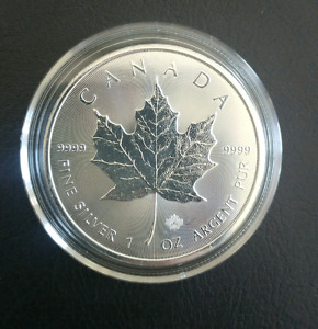 SOLD!  1 oz silver maple leaf coin 2016