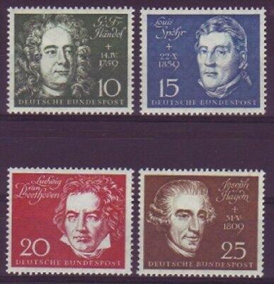 BRD 1959  MiNr. 315-319 / Einzelmarken aus Block 2