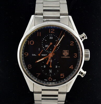 Tag Heuer Carrera CAR2014 Calibre 1887 Chronograph SS/Black/Rose Gold Watch