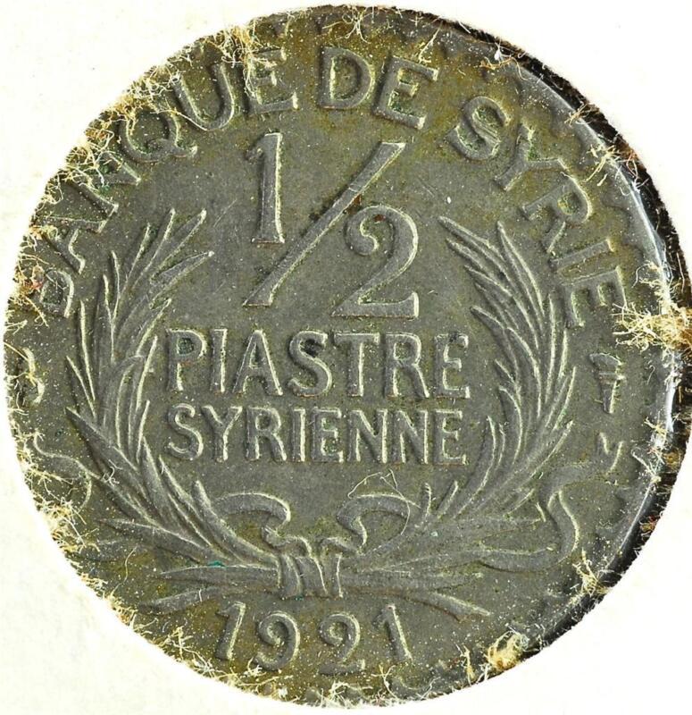 1921 Syria 1/2 Piastre, KM#68, Nice Coin!!,   #A44